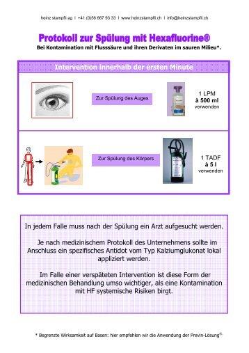 Anwenderprotokoll Hexafluorine - Heinz Stampfli AG
