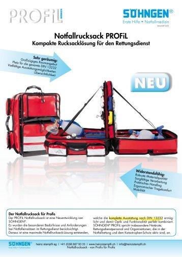 PROFIL Notfallrucksack - Heinz Stampfli AG