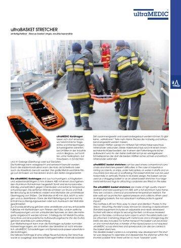 Korbtrage ultraMEDIC Datenblatt - Heinz Stampfli AG