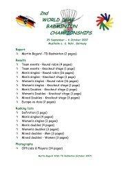 2nd WORLD DEAF BADMINTON CHAMPIONSHIPS - I.PSKN Praha