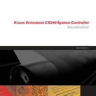KODAK VERSAMARK CS340 System Controller Introduction