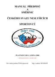 Manuál předpisů a směrnic ČSNS - (PDF) - I.PSKN Praha