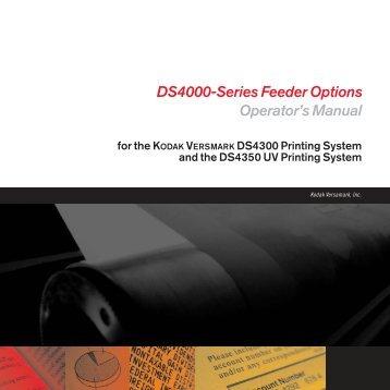 DS4000-Series Feeder Options Operator's Manual - Kodak