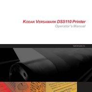 KODAK VERSAMARK DS5110 Printer Operator's Manual