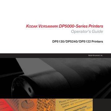 KODAK VERSAMARK DP5000-Series Printers Operator's Guide