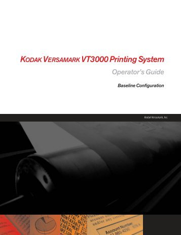 Operator's Guide - Kodak