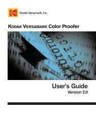 Color Proofer User's Guide - Kodak