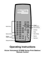 Operating Instructions KODAK VERSAMARK DT9000 Series Print ...