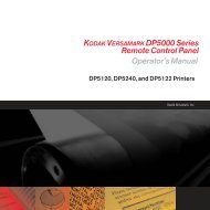 KODAK VERSAMARK DP5000 Series Remote Control Panel ...