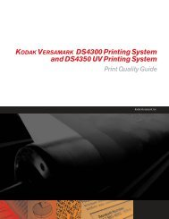 Chapter 1. DS4300 Print Quality Issues - Kodak
