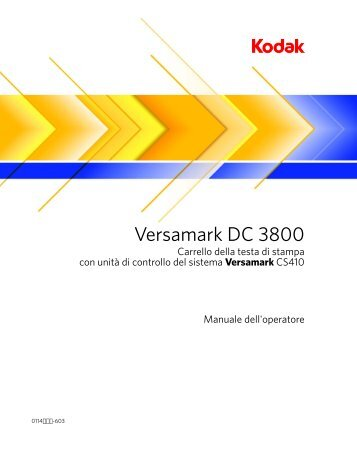 Versamark DC 3800 - Kodak