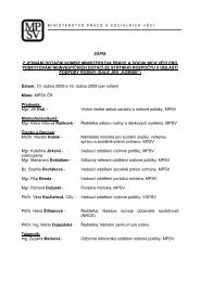 zápis z jednání dotační komise ministerstva práce a sociálních věcí ...