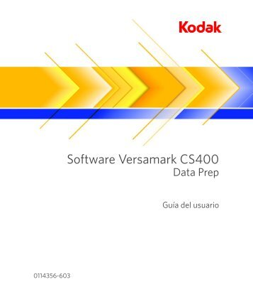 Software Versamark CS400 - Kodak