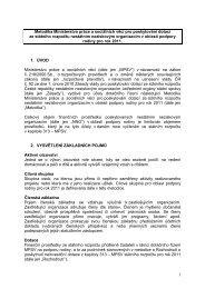 1 Metodika Ministerstva práce a sociálních věcí pro poskytování ...