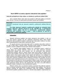 Příloha č.7 - Návrh MPSV na změnu zápočtu náhradních dob pojištění