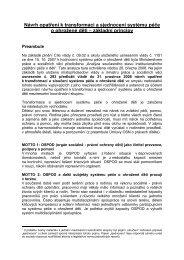 Návrh opatření k transformaci a sjednocení systému péče o ...