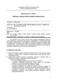 Nástroje a opatření aktivní politiky zaměstnanosti - Ministerstvo ...