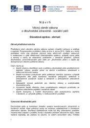 Návrh věcného řešení problematiky LTC - Ministerstvo práce a ...