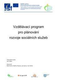 Vzdělávací program pro plánování rozvoje sociálních služeb