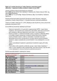 Zápis ze 4. jednání Komise pro vedení Seznamu specializovaných ...