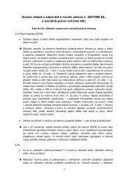 Soubor otázek a odpovědí - Ministerstvo práce a sociálních věcí
