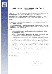 Zápis 26 - Ministerstvo práce a sociálních věcí