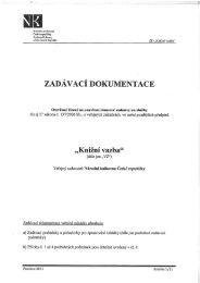 ZADÁVACÍ DOKUMENTACE - Národní knihovna ČR