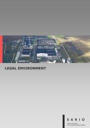LEGAL ENVIRONMENT - Sario