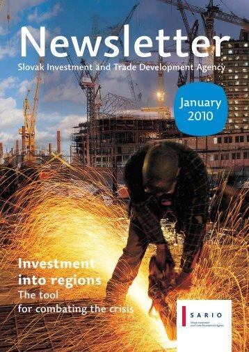 Investment into regions - Sario