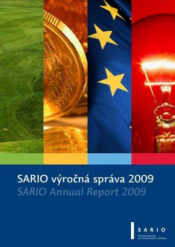 SARIO výročná správa 2009 SARIO Annual Report 2009