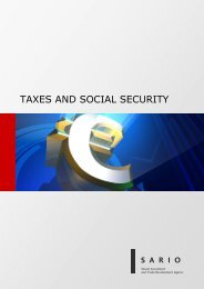TAXES AND SOCIAL SECURITY - Sario