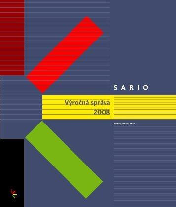 Výročná správa 2008 - Sario