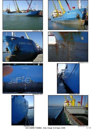 M/V EMRE TOMBA , Kdz. Eregli 6-9 Sept, 2006 1 / 11