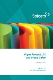 Paper Product List and Green Guide - Spicers Canada