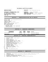 UNIGRAPH INTERNATIONAL INC. CANUTEC: (613) 996 ... - Spicers