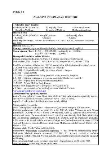 Základné informácie o teritóriu - Sario