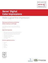 Xerox® Digital Color Impressions - Spicers Canada