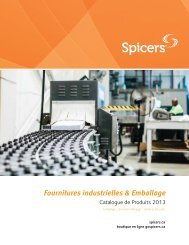 Fournitures industrielles & Emballage Catalogue - Spicers Canada