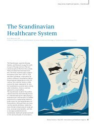 The Scandinavian Healthcare System - Siemens Medical Solutions