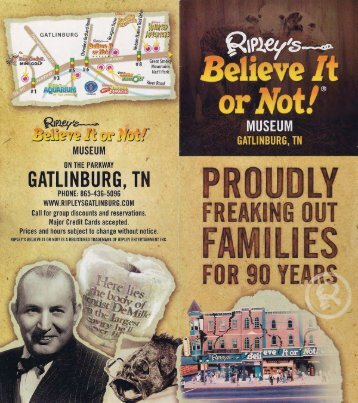 Ripleys Believe It Or Not Museum Brochure Gatlinburg - The Great ...