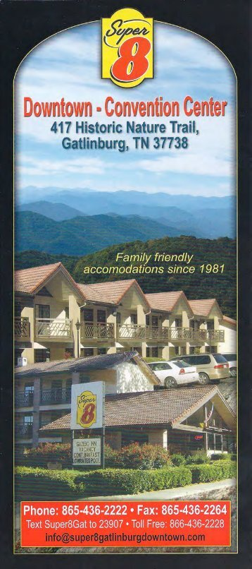 Super 8 Downtown Gatlinburg Brochure (866) 436-2228 - The Great ...