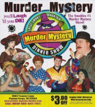 Great Smoky Mountain Murder Mystery Dinner Show Pigeon Forge ...