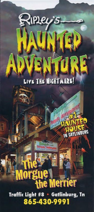 Ripleys Haunted Adventure Brochure Gatlinburg (865) 430-9991