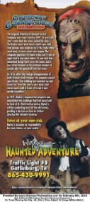 Ripleys Haunted Adventure Brochure Gatlinburg (865) 430-9991 - Page 2