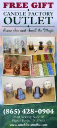 The Candle Factory Outlet Pigeon Forge Brochure (865) 428-0904