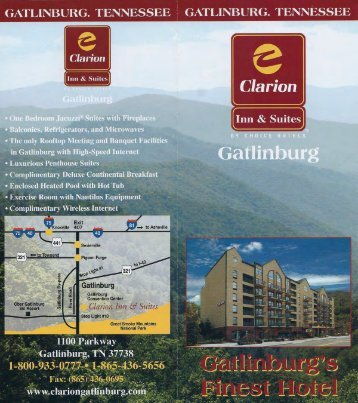 Clarion Inn & Suites Gatlinburg Brochure - The Great Smoky ...