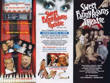 Sweet Fanny Adams Theatre Brochure - The Great Smoky ...