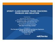 class rudder trunk cracking - SNAME.org - Society of Naval ...