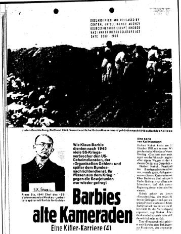 Barbies alte Kamerad n - CIA FOIA