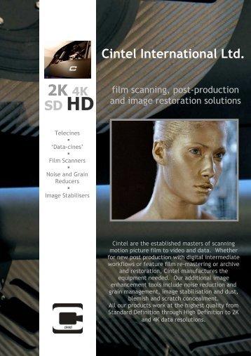 Cintel company flyer 2010